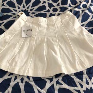Skirt short white
